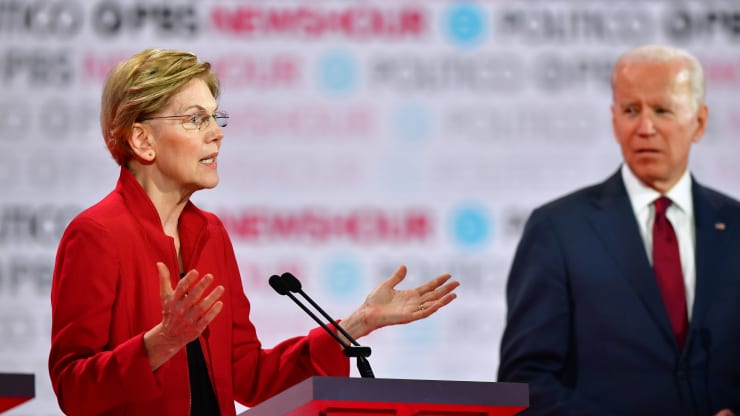 Elizabeth Warren unveils plan to overhaul bankruptcy laws, spotlighting differences with Biden